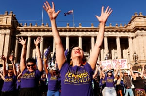 Melbourne, AustraliaThousands of demonstrators attend a rally calling for decolonisation of Australia, an end to racism, economic justice for all women and reproductive justice, as well as supporting the struggle for the liberation of all women around the world