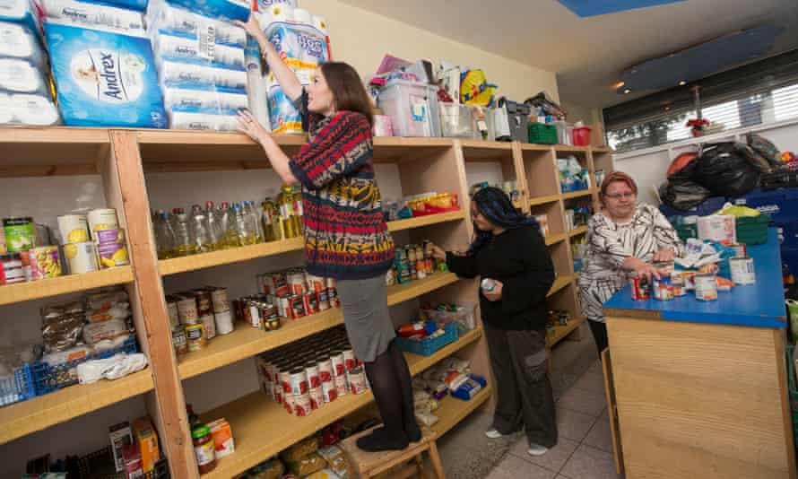 A food bank in Nottingham.