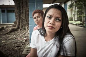 Claudia Maria Valezquez, 28, is seen alongside her mother, with whom she is incarcerated