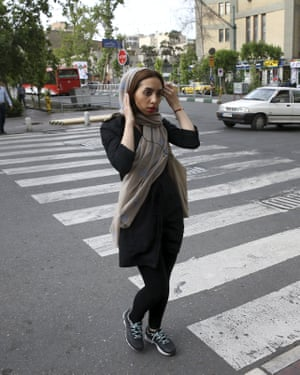 Iranian women are not afraid to not comply to hijab rules.