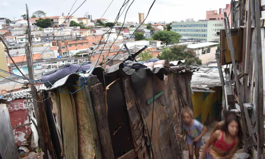 An area of Boi Malhado favela in the north of São Paulo
