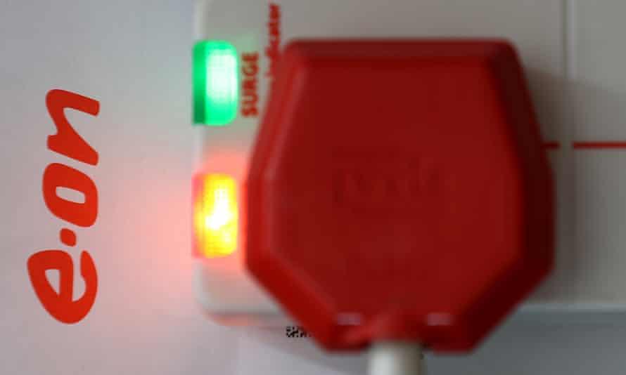 E.ON energy company logo alongside a plug socket