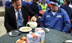 David Cameron visits Scotland Prime Minister David Cameron tries some porridge during a visit to the Quaker Oats site at Cupar in Scotland. PRESS ASSOCIATION Photo. Picture date: Thursday February 16, 2012. The Prime Minister will have talks with Scottish National Party leader Alex Salmond in Edinburgh. The meeting comes after the First Minister discussed his plans for staging a ballot on independence with the Scottish Secretary Michael Moore earlier this week. See PA story POLITICS Scotland. Photo credit should read: Andrew Milligan/PA Wire