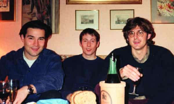 Buxton and Cornish with Louis Theroux on Christmas Eve 1995.