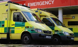 Ambulances outside a hospital in London