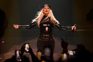 Las Vegas, US: Christina Aguilera performs during the opening celebration at the Theater at Virgin Hotels