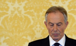 Tony Blair's a press conference, responding to the Chilcot report on the Iraq war, July 2016.
