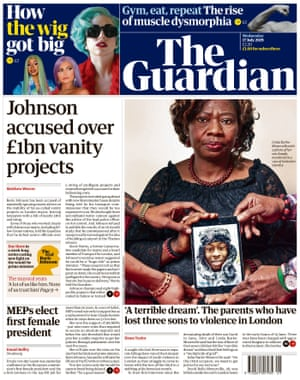 Guardian front page, Wednesday 17 July 2019