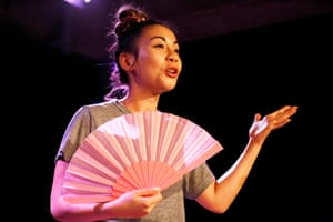 Alissa Anne Jeun Yi's one-woman show Love Songs at Underbelly, Cowgate at the Edinburgh festival fringe 2018.