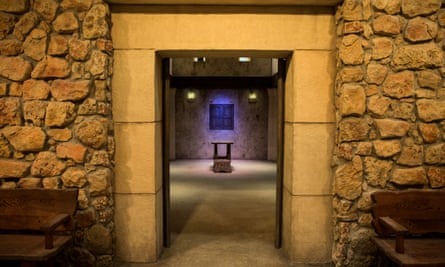 A depiction of a temple at the Museum of the Bible in Washington