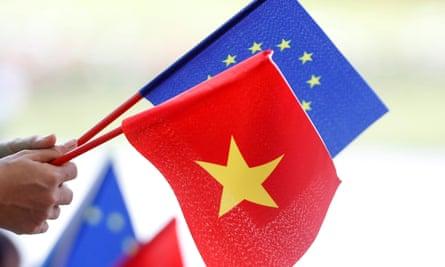 EU and Vietnamese flags