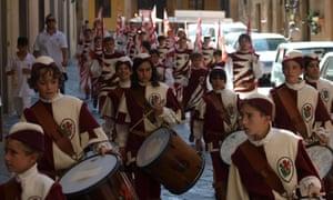 Medieval festival in Volterra