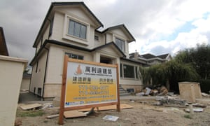 A mansion under construction in a Vancouver neighbourhood popular with Chinese buyers.