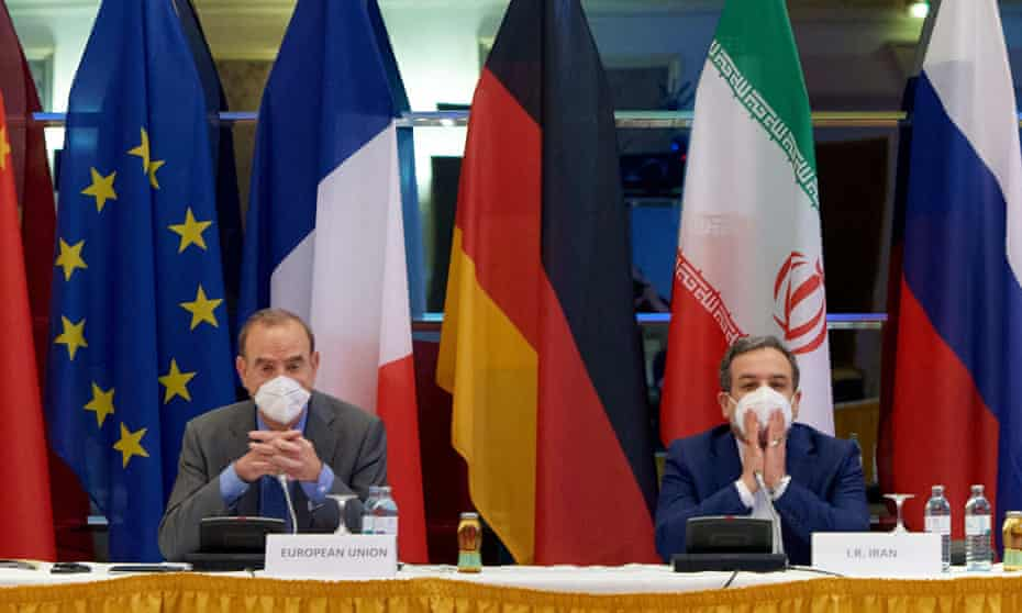 Iranian and EU officials attend the sixth round of talks in Vienna
