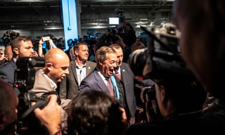 Brexit party European election candidates at a rally in London