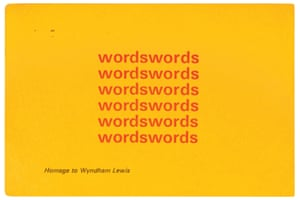 Stuart Mills, Homage to Wyndham Lewis, 1969