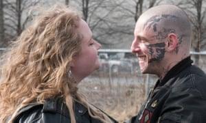Vivid metaphor … Danielle Macdonald and Jamie Bell in Skin.