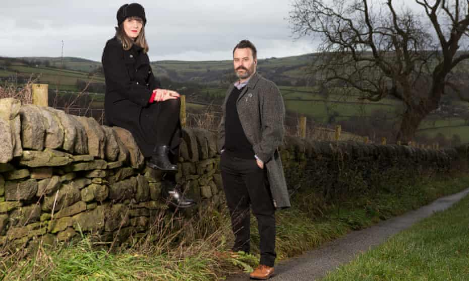 Adelle Stripe and Benjamin Myers, photographed for the Observer near their home in Mytholmroyd, near Hebden Bridge in West Yorkshire.
