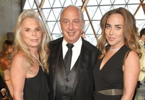 Lady Tina Green, Sir Philip Green and Chloe Green at the Fashion for Relief cocktail party at the Cannes Film Festival in 2017.