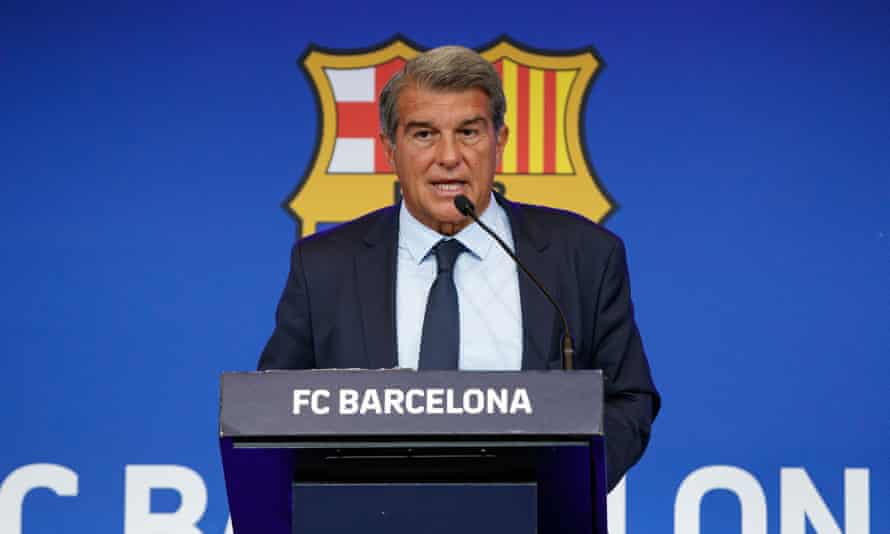 Barcelona's president, Joan Laporta