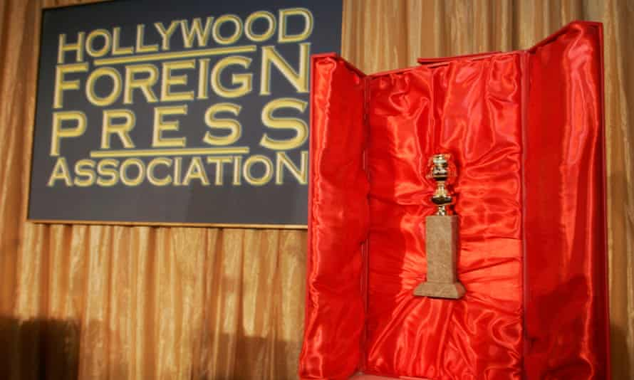 The Hollywood Foreign Press Association's Golden Globe statuette.