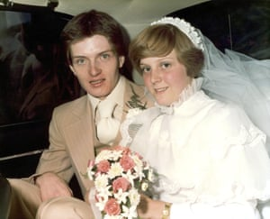 Ian Curtis and Deborah Woodruff on their wedding day, 23 August 1975.