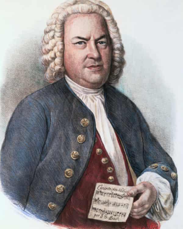 Johann Sebastian Bach in a lithograph by FG Schlick after the portrait by EG Haussmann.