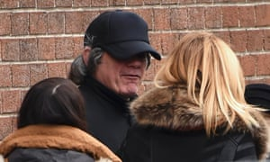Gerry Hutch wears a disguise at the funeral of his brother, Eddie, who was shot and killed on 8 February.