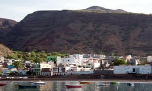 View of the harbour in the volcanic island of Sao Nicolau in the Cape Verde archipelago