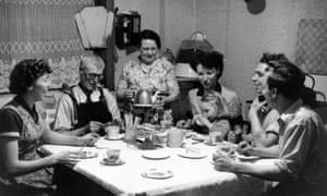 Lancashire cotton worker's family, 1958; Britain is a nation of tea-drinkers