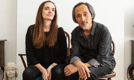 English language translator Flora Drew with Chinese author Ma Jian.