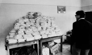"""A seizure of heroin on the Caprice Des Temps, Marseilles, 3 March 1972. The """"French connection"""" once supplied the US with 90% of its supply."""