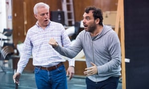 Kramer and tenor Stephen Rooke in rehearsals for the ENO's new Tristan and Isolde.