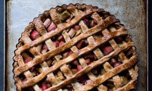 Fruity feeling: rhubarb tart.