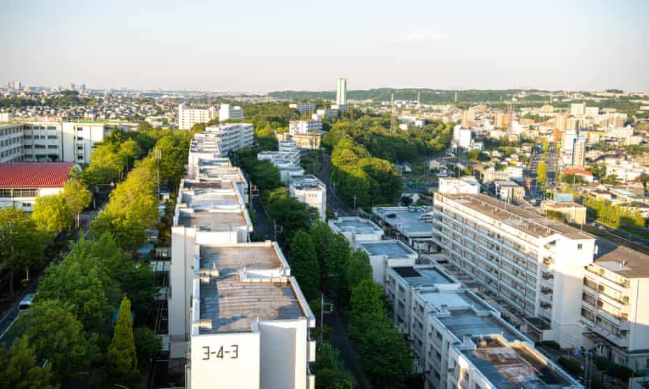 Atago public housing complex run by Tokyo metropolitan administration