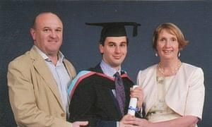 Elliott Johnson at his graduation