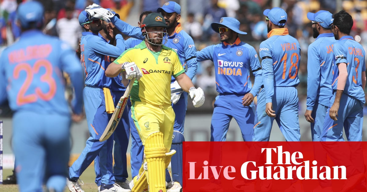 India chase 287 to win third ODI and series against Australia – live!
