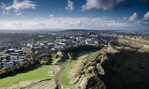 The view from Arthur's Seat of Holyrood, Edinburgh