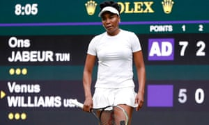Venus Williams goes a set and two games down.