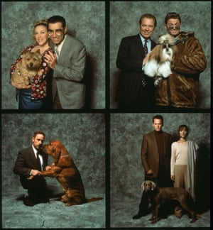 Catherine O'Hara and Eugene Levy (top left), Michael McKean and John Michael Higgins (top right), Christopher Guest (bottom left) and Michael Hitchcock and Parker Posey (bottom right) in Best in Show (2000).