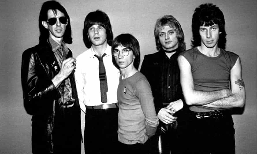 Ric Ocasek, left, with the Cars. From left: Elliot Easton, Greg Hawkes, Benjamin Orr and David Robinson in the late 1970s.