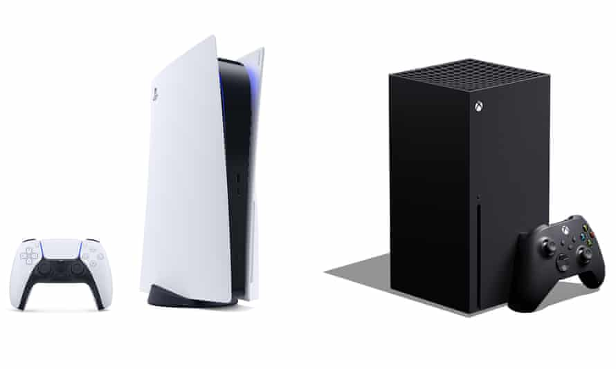 Xbox Series X and PlayStation 5 games consoles.