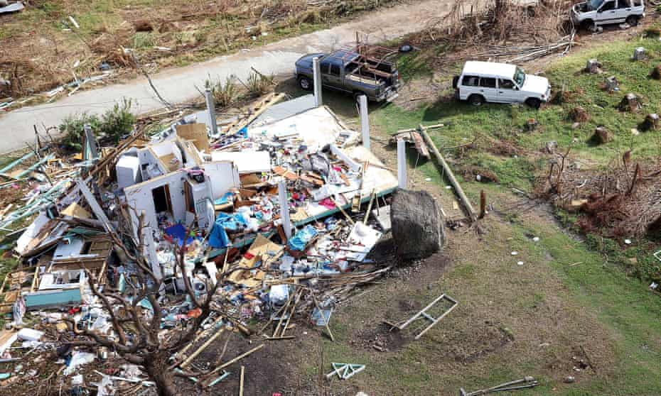 A house destroyed by Hurricane Irma in the British Virgin Islands.