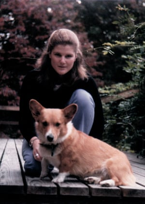 Anne Scott with her dog Cecily in 1984, at 22, when she was living at home with her parents and was in and out of psychiatric institutions.