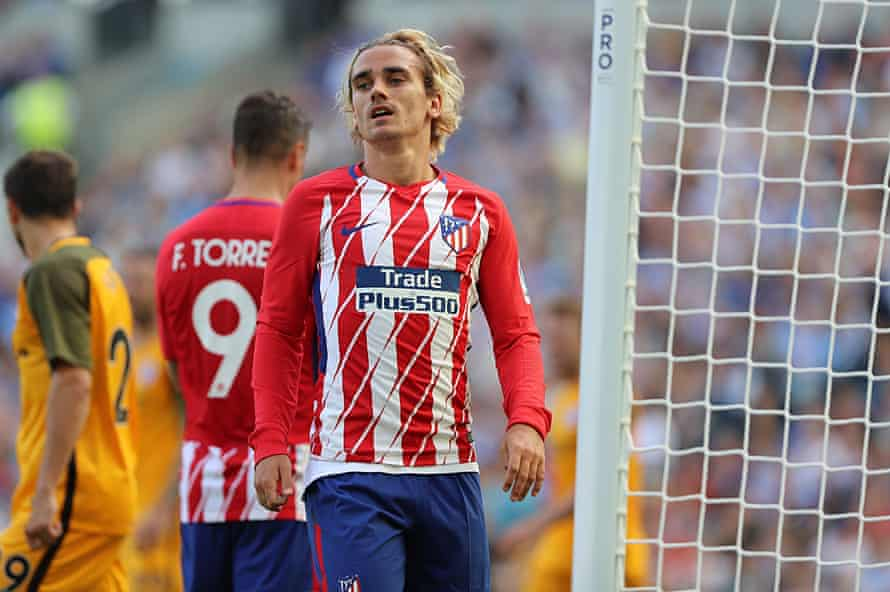 Antoine Griezmann during the pre-season friendly against Brighton and Hove Albion