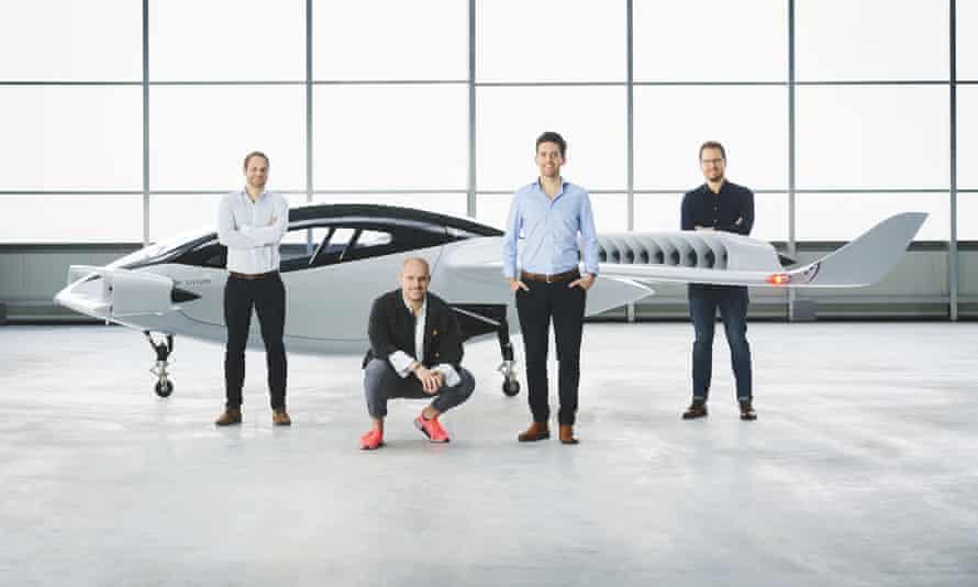 Lilium's founders, left to right, Sebastian Born, Patrick Nathen, Daniel Wiegand and Matthias Meiner