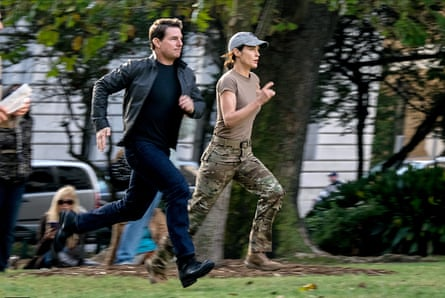 I'll race you ... Tom Cruise and Cobie Smulders in Jack Reacher: Never Go Back. Photograph: Allstar/Paramount Pictures