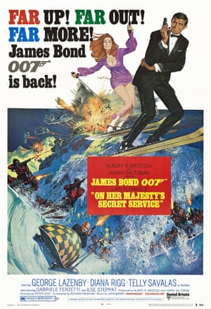A poster for On Her Majesty's Secret Service, 1969