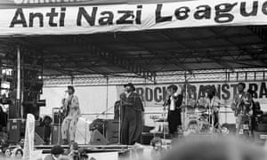 Steel Pulse at a concert organised by the Anti-Nazi League and Rock Against Racism at Victoria Park, Hackney, London, on 30 April 1978
