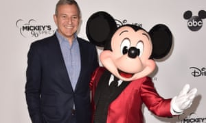 Disney CEO Bob Iger at Mickey Mouse's 90th anniversary celebration in Los Angeles in 2018.
